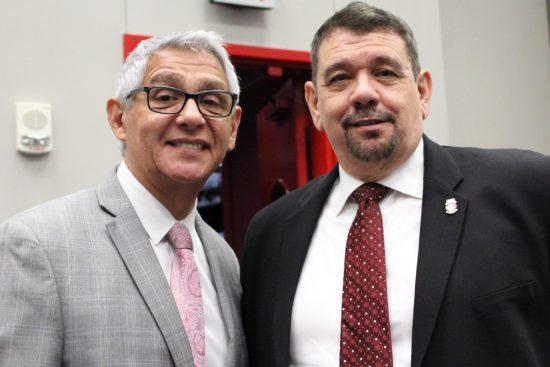 President Robert Mele with Council Member Robert Gallegos